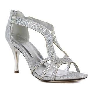 Celeste Women's 'Keri-02' Rhinestone Peep-Toe Dress Sandals