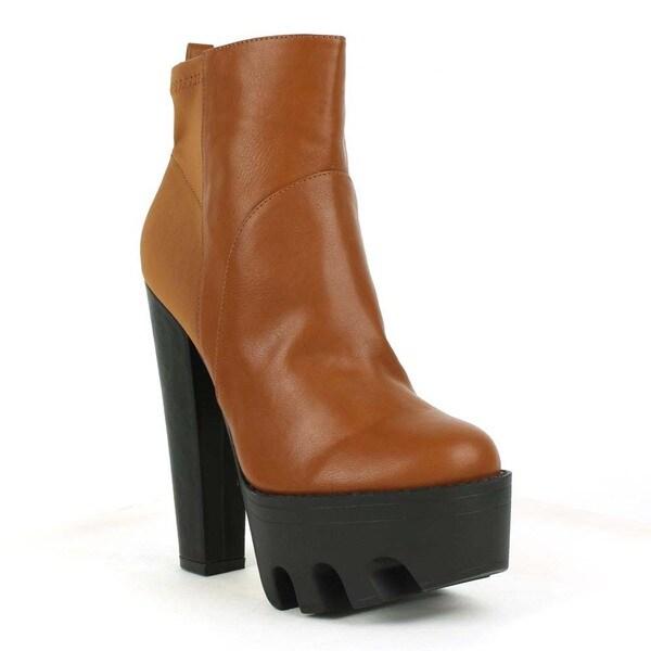 Fahrenheit Women's 'Laura-04' Chunky Heel Platform Booties