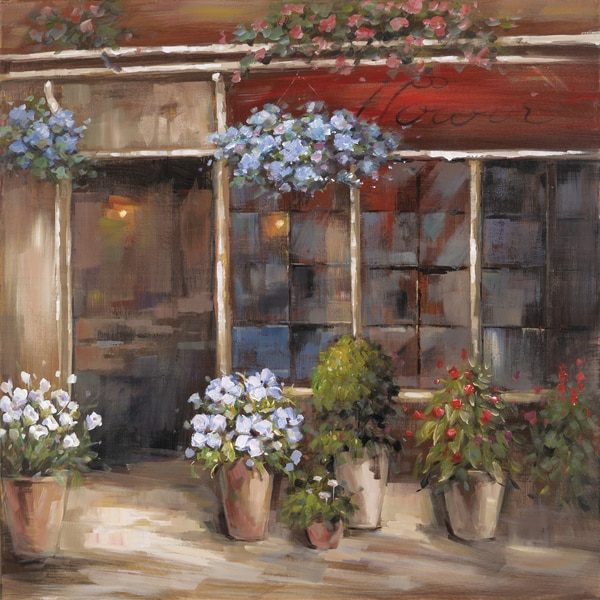 Flower Shoppe Original Hand painted Wall Art