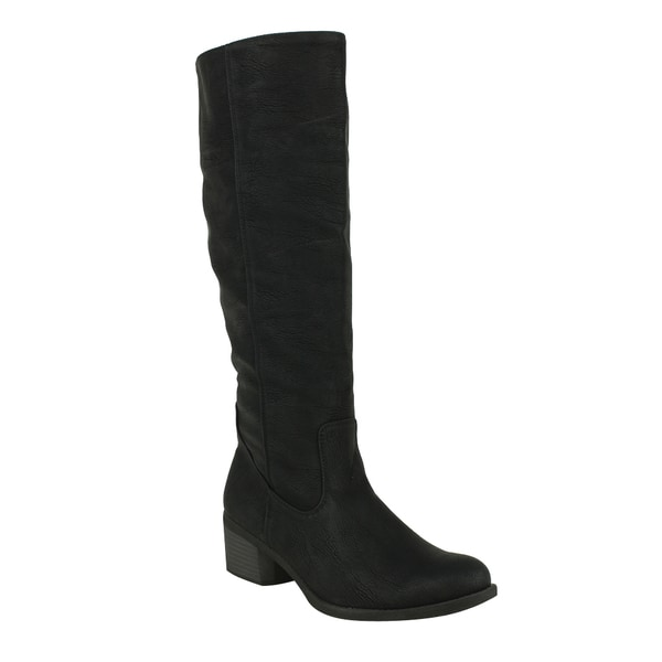 Fahrenheit Women's 'Irish-03' Black Knee-high Riding Boots