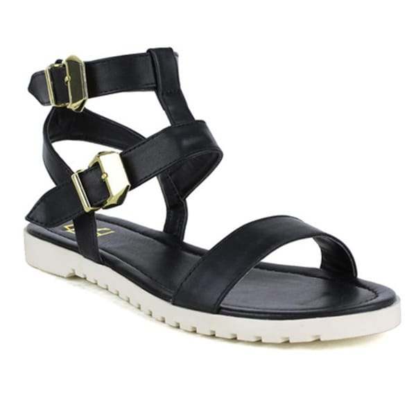 Fahrenheit Women's 'Polly-01' Double Band Sandals