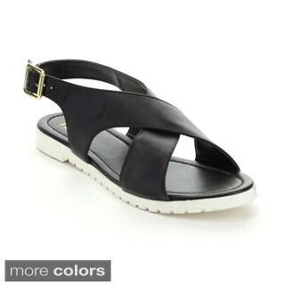 Fahrenheit Women's 'Polly-04' Criss-cross Strap Sandals