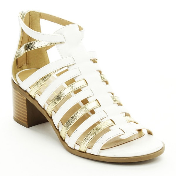 Mark & Maddux Cecilla-02 Women's Two-tone Strappy Heels