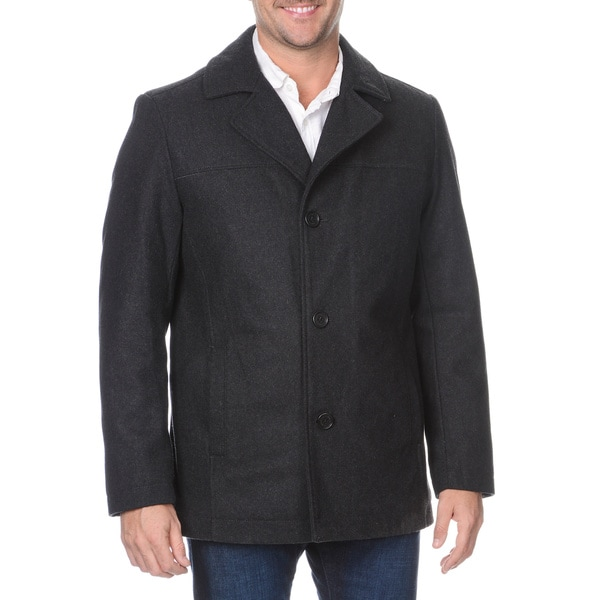 Halifax Men's Single Breasted Wool-blend Coat