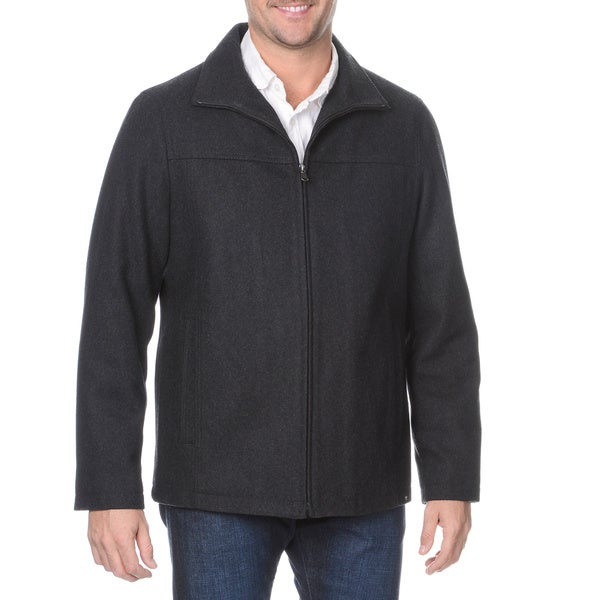 Halifax Men's Zip Front Wool-blend Coat