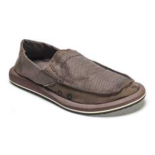 Muk Luks Men's 'Cole' Brown Linen Boat Shoes