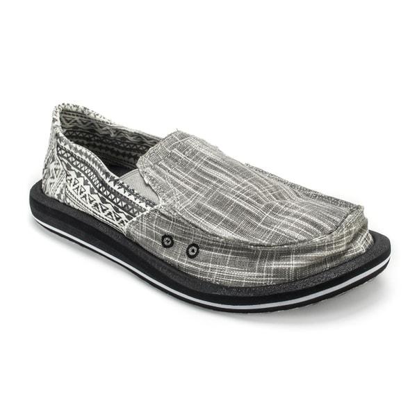 Muk Luks Men's 'Cole' Grey Linen Boat Shoes