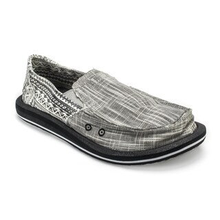 Muk Luks Men's 'Cole' Grey Linen Boat Shoes