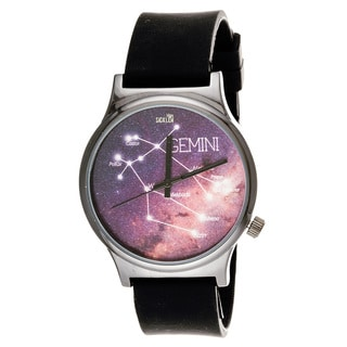 Van Sicklen Gemini Men's VAN019GU-BK Black Silicone Rubber Watch
