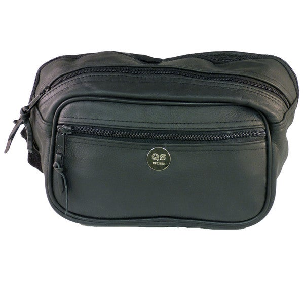 Large Leather Concealment Fanny Pack