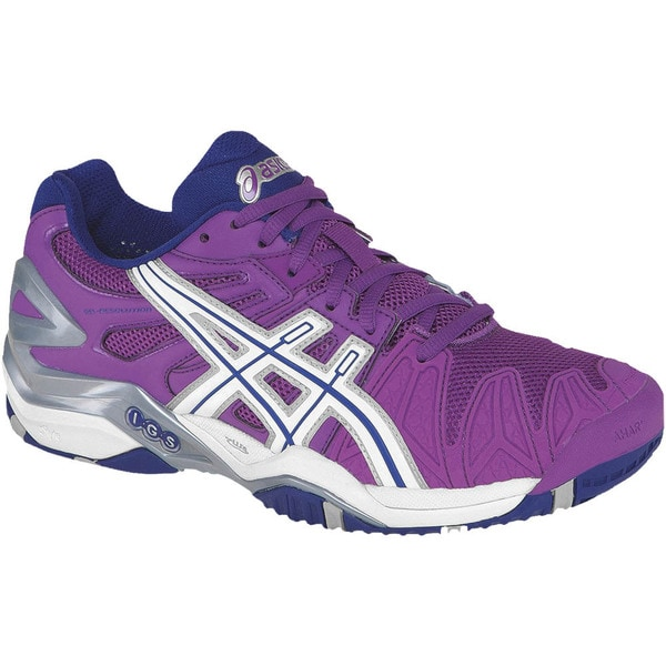 Asics Women's 'Gel Resolution 5' Grape Purple Tennis Shoes