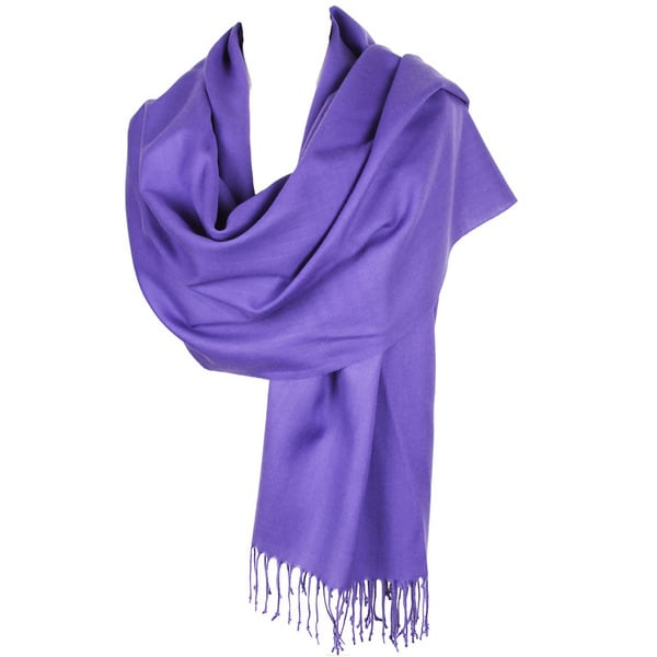 Fringed Soft Knit Scarf