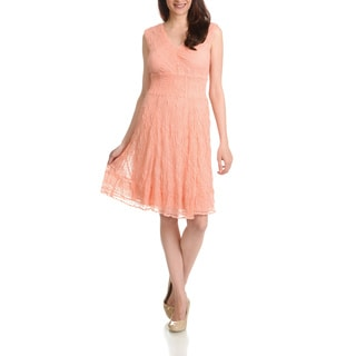 Rabbit Rabbit Rabbit Design Women's Lace Overlay Dress