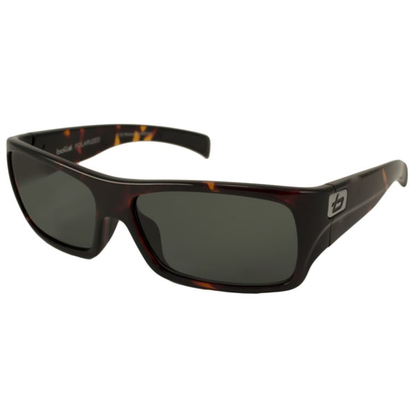 Bolle Men's Unisex 'Oscar' Polarized Rectangular Sunglasses (As Is Item)