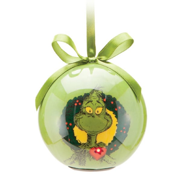 The Grinch Christmas Tree Ball Ornament with LED Lights