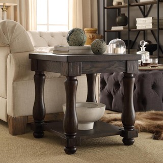SIGNAL HILLS Huntington Baluster Weathered Brown End Table