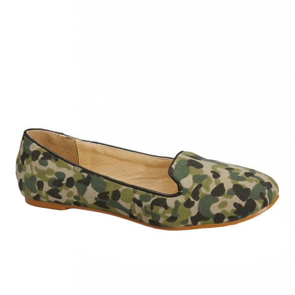 Nichole Simpson Army Patterned Ballet Flat