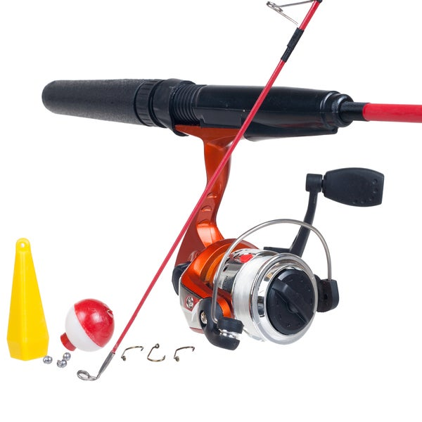 Gone fishing 2 piece rod and open face reel combo for for Best fishing rod and reel combo for beginners