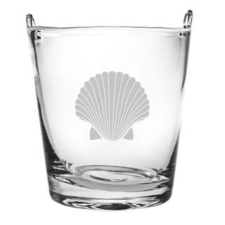 8-inch Fan Shell Glass Ice Bucket