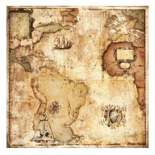 Paul Panossian 'Map of Discovery' Gallery Wrap Canvas