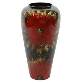 Essential Red Lacquer Bamboo Vase