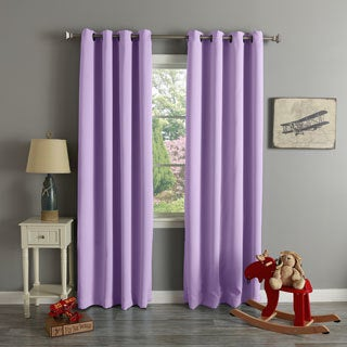 Grommet Top Thermal Insulated Blackout Curtain Panel Pair