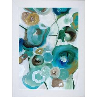 Cat Tesla 'Sapphire Blooms l' Framed Artwork