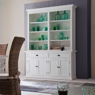 NovaSolo Halifax Mahogany Hutch/ Bookcase Unit