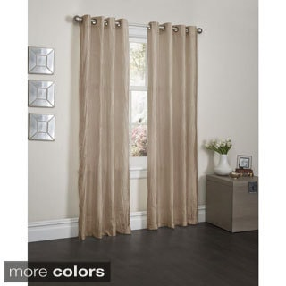 Sherry Crushed Satin 84-inch Curtain Panel Pair