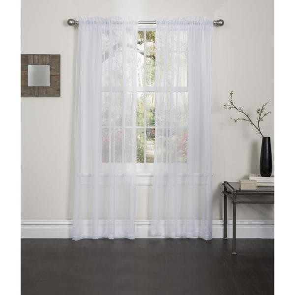 Lisa 84 inch rod pocket sheer curtain panel pair 16986415