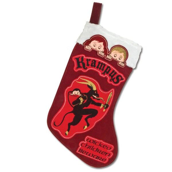 Krampus Red Christmas Stocking
