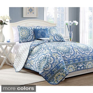 Talila Ornate Floral 5-piece Reversible Quilt