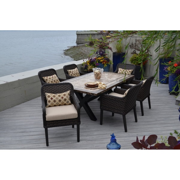Pompeii 7-piece Wicker Dining Set