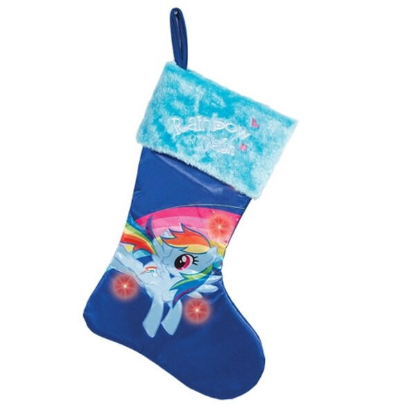 My Little Pony Friendship is Magic Rainbow Dash Light-Up Christmas Stocking