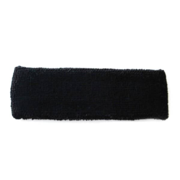 Black Terry Cotton Headband