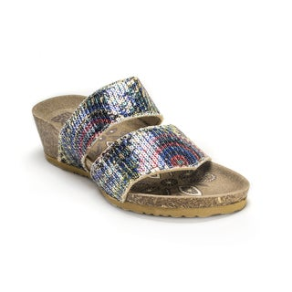 Muk Luks Women's 'Ava' Blue Terra Turf Wedges