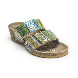 Muk Luks Women's 'Ava' Green Terra Turf Wedges