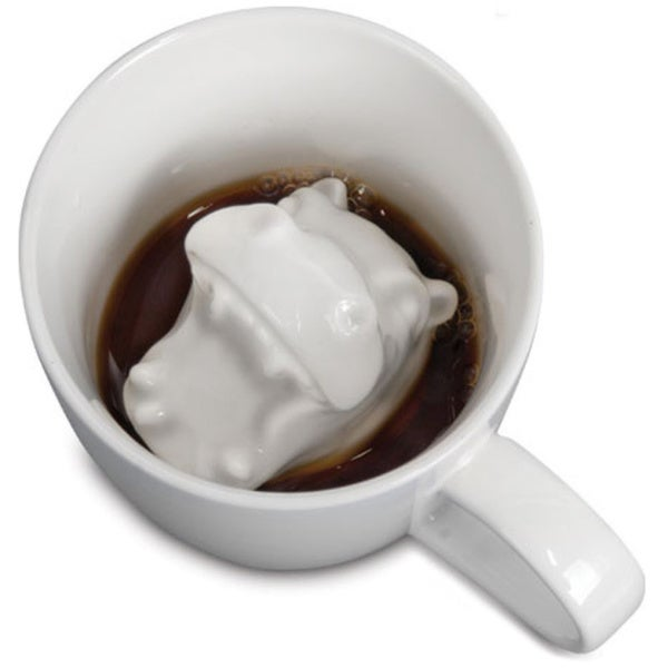Hippo Attack Porcelain Coffee Mug