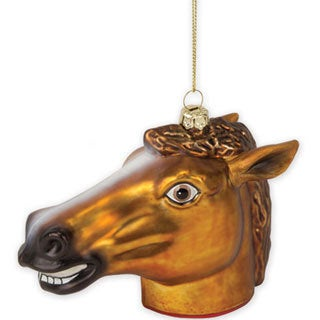 Creepy Horse Head Christmas Tree Ornament