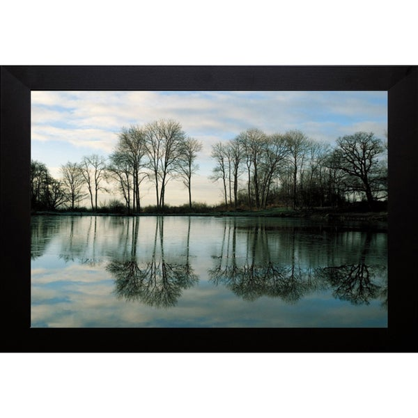 Derek Harris 'Frozen Reflections' Framed Artwork