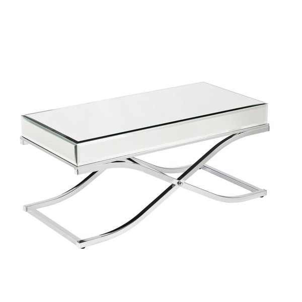 Upton Home Annabelle Chrome Mirrored Coffee Cocktail Table 16986596 Shopping
