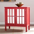 Upton Home Parker Red Double-Door Mirrored Cabinet