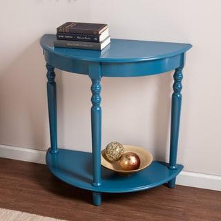 Upton Home Tristan Blue Demilune Table