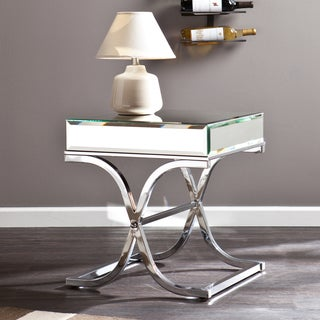 Upton Home Annabelle Chrome Mirrored Side/ End Table