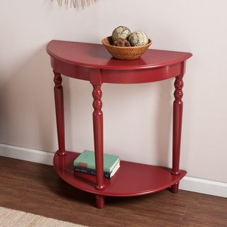 Upton Home Tristan Red Demilune Table