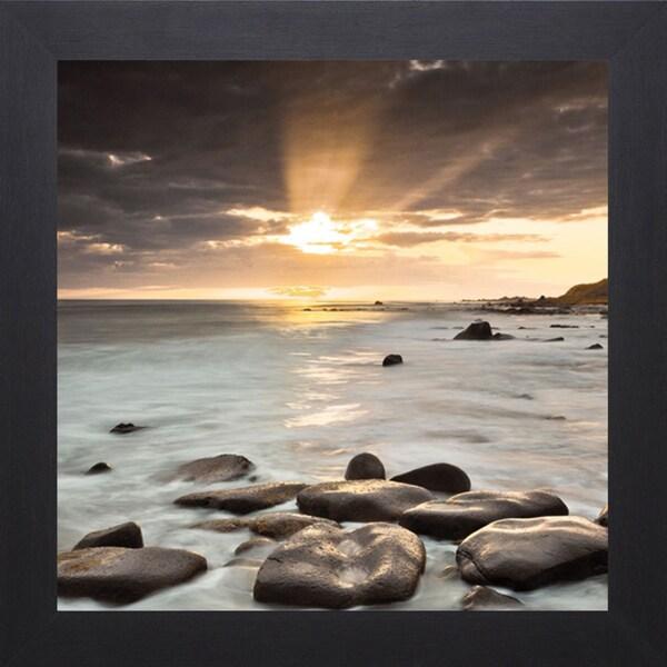 Assaf Frank 'Nordic Sunset' Framed Artwork