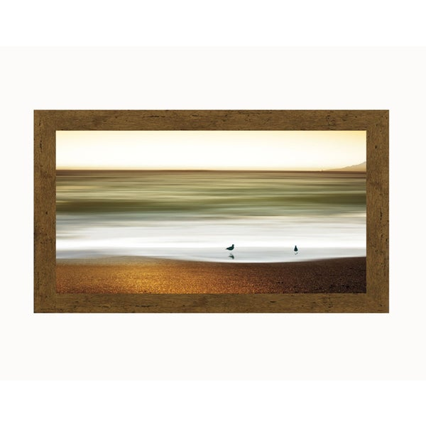 Marvin Pelkey 'Golden Shores' Framed Artwork
