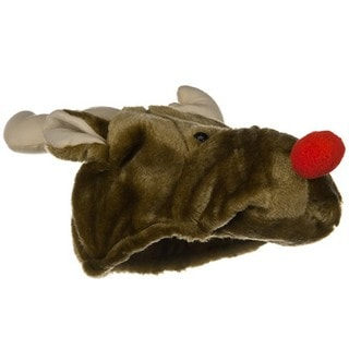 Rudolph Red-nosed Reindeer Plush Hat