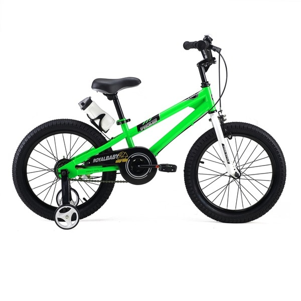 RoyalBaby BMX Freestyle 18-inch Kids Bike with Training Wheels