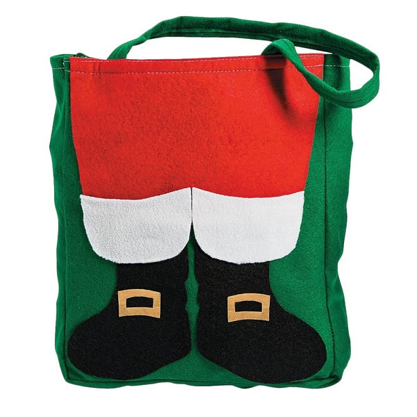 Santa Claus Christmas Fuzzy Tote Bag